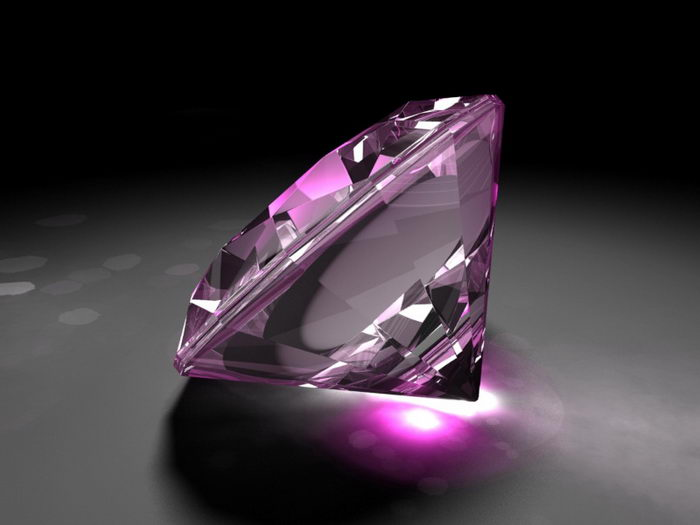 Pink Diamond 3d rendering