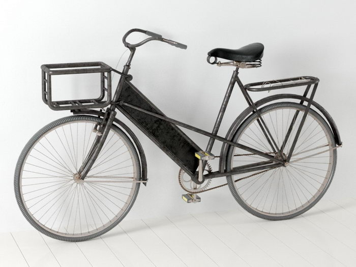 Antique Bicycle 3d rendering