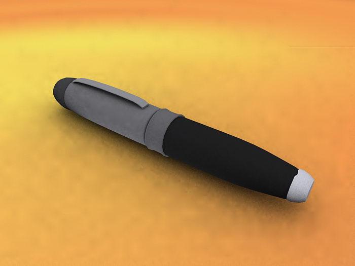 Black Pen 3d rendering