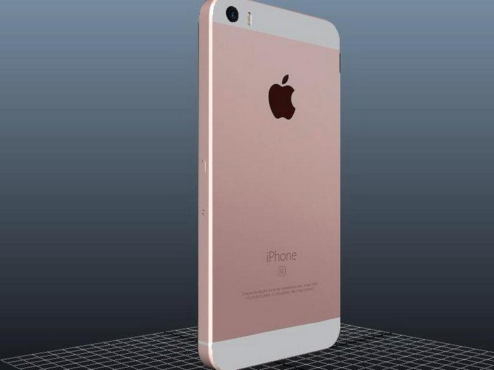 iPhone SE 3d rendering