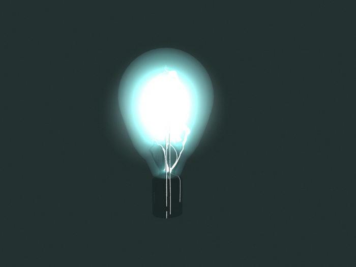 Light Bulb Effect 3d rendering
