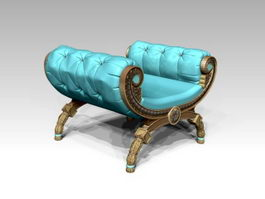 Antique Butterfly Stool 3d preview