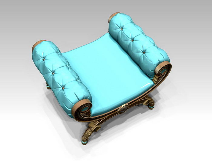 Antique Butterfly Stool 3d rendering