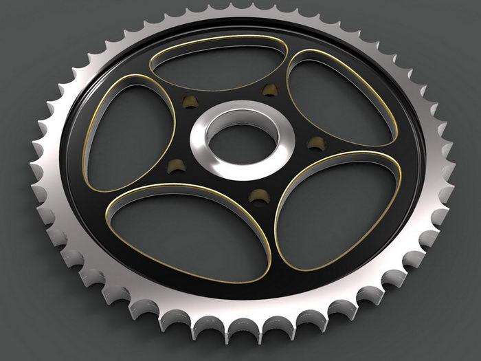 Machine Gear 3d rendering