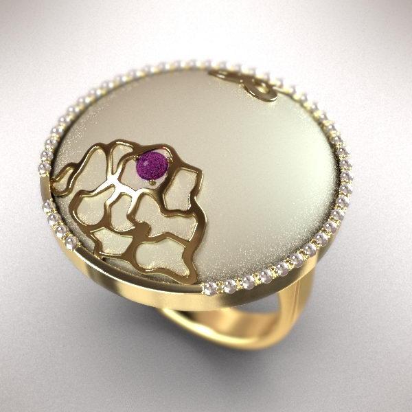 Fashion Round Ring 3d rendering