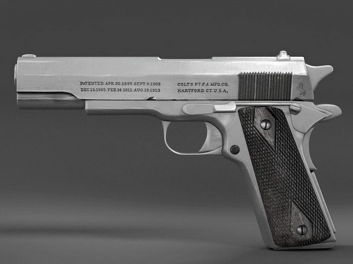 Colt 1913 Pistol 3d rendering