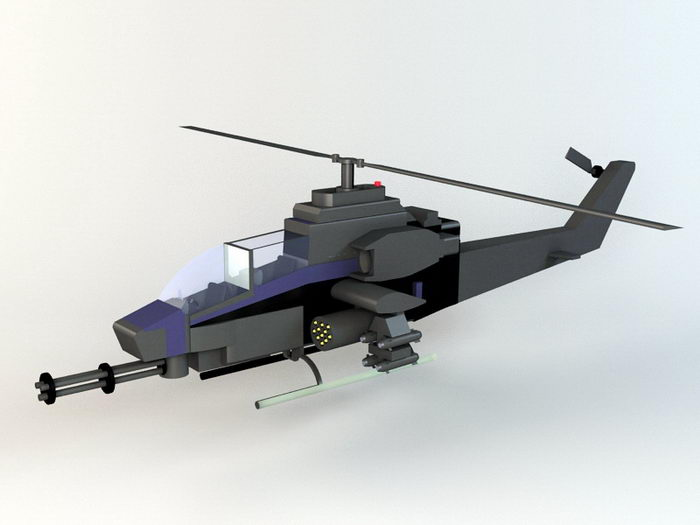 Military Helicopter 3d rendering