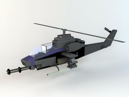 Military Helicopter 3d preview