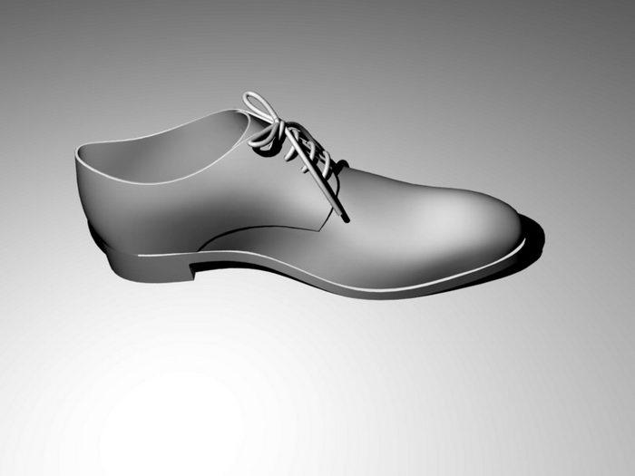 Oxford Shoe 3d rendering