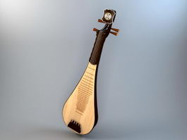Pipa Chinese Lute 3d preview