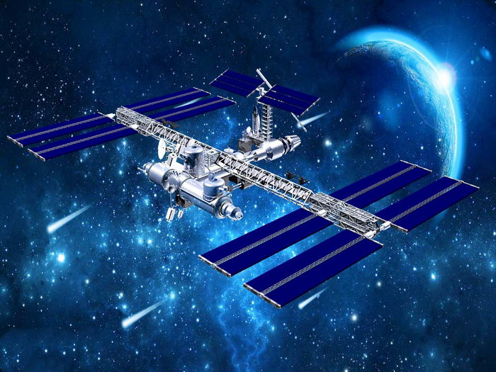 Space Station 3d rendering