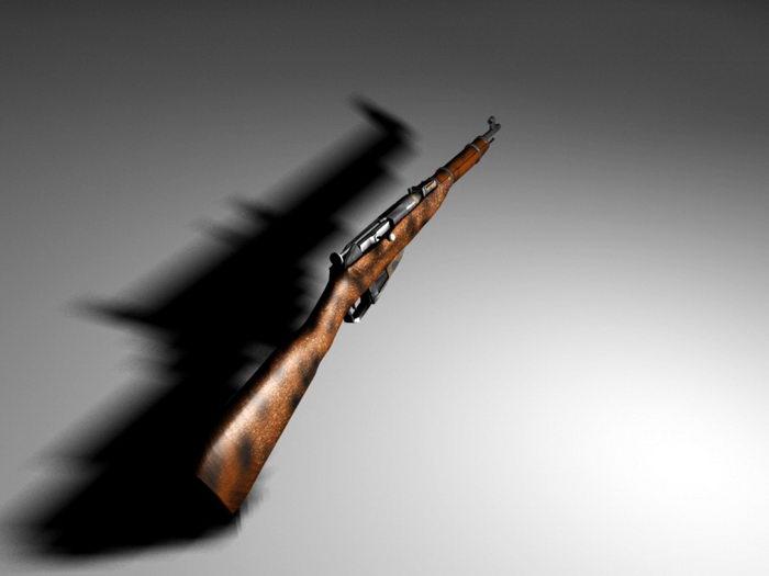 Mosin–Nagant Rifle 3d rendering