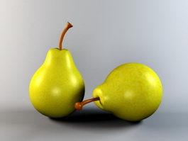 Pear Fruit 3d model preview