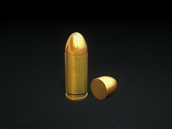 9Mm Bullet 3d rendering