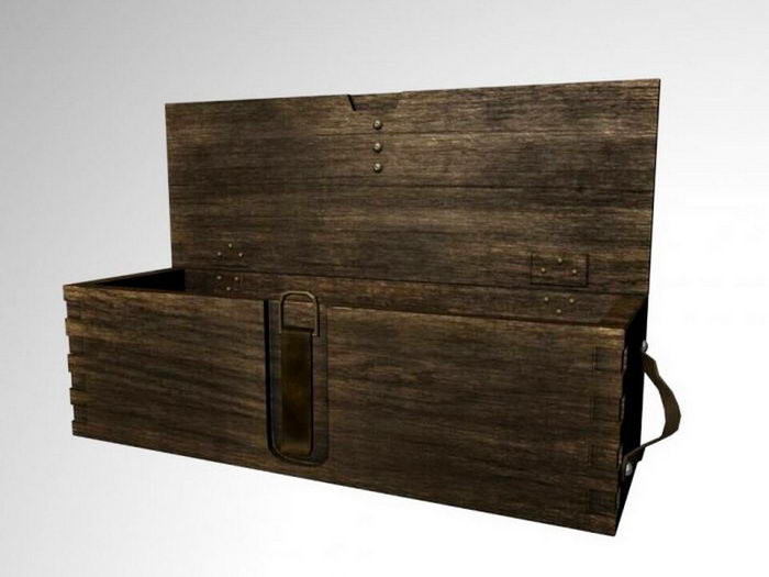 Wood Ammunition Box 3d rendering