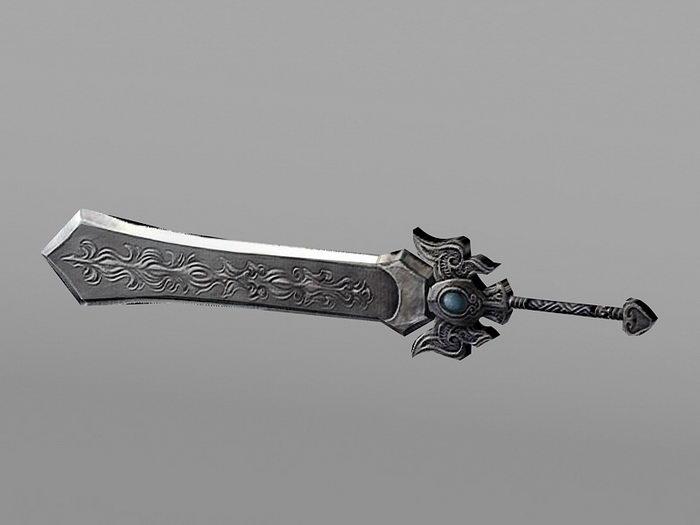 Ancient Broadsword 3d rendering