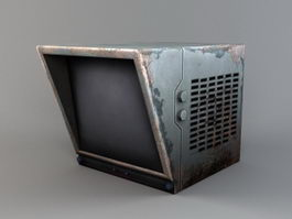 Vintage CRT Monitor 3d preview