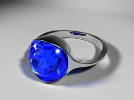 Sapphire Ring 3d preview