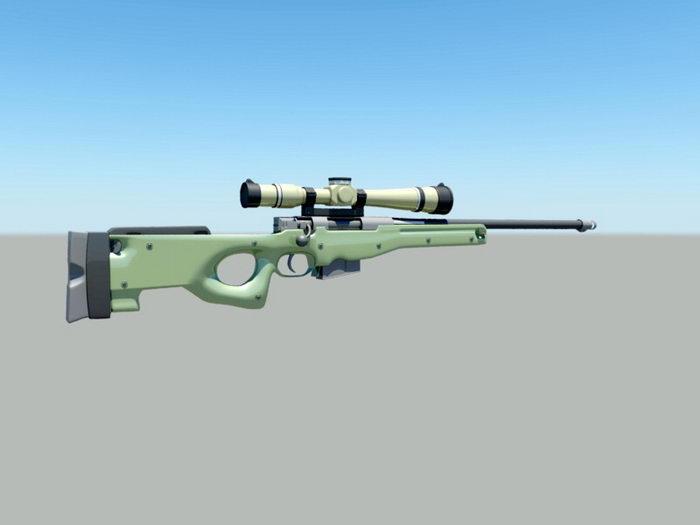 Sniper Gun 3d rendering