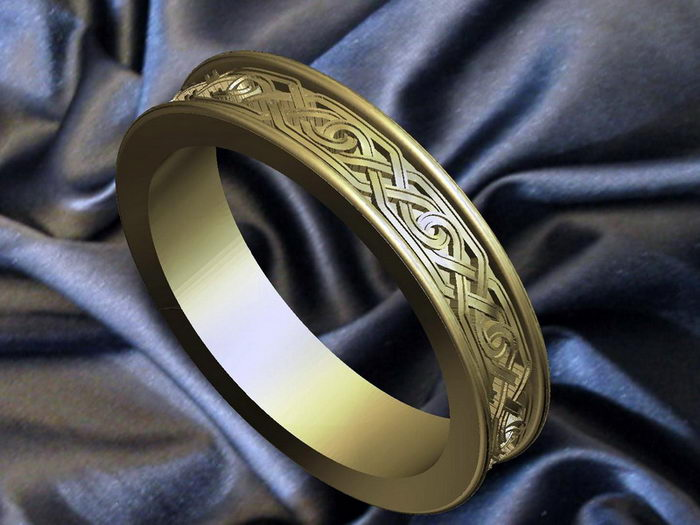 Band Ring 3d rendering