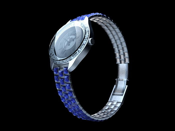 Dior Watch 3d rendering