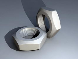 Hexagon Nuts 3d model preview