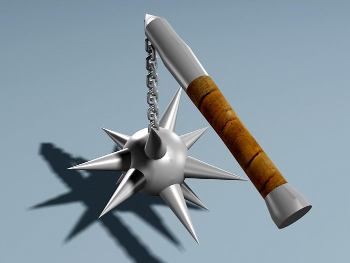 Spiked Chain Flail 3d rendering