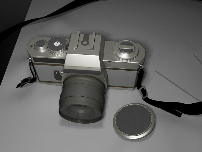 Digital Camera 3d rendering