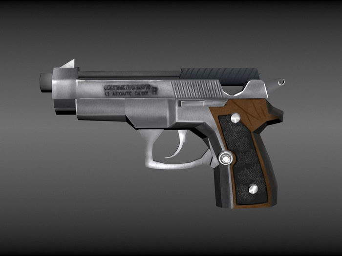 Colt Pistol 3d rendering