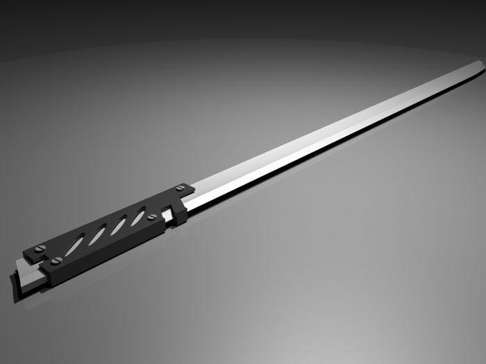 Katana Sword 3d rendering