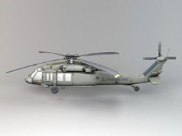 Dark Hawk Helicopter 3d model preview