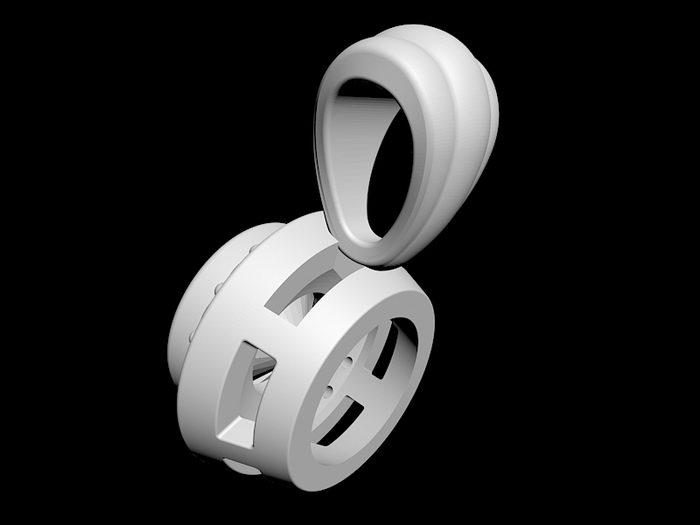 Necklace Pendant 3d rendering