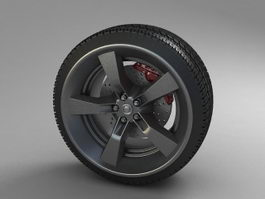 Car Wheel 3d preview