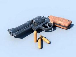 Old Revolver 3d model preview