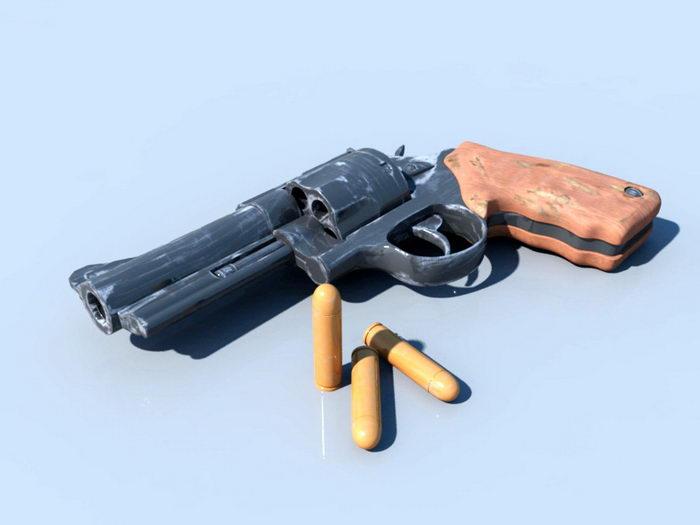 Old Revolver 3d rendering