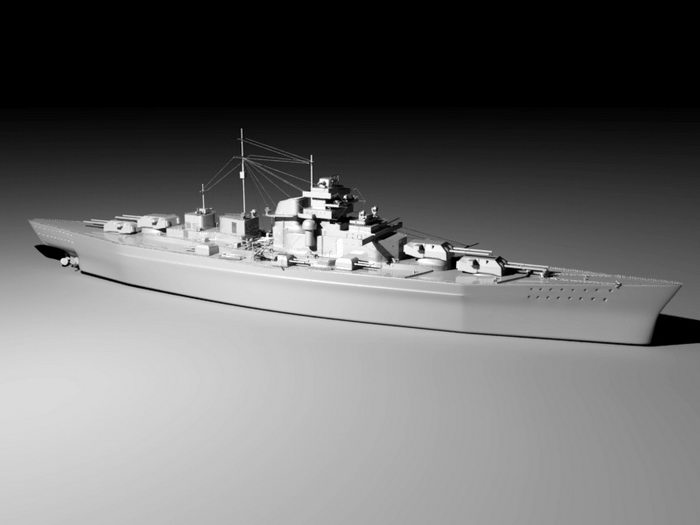 Battleship 3d rendering