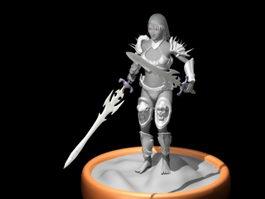 Female Warrior Art 3d preview