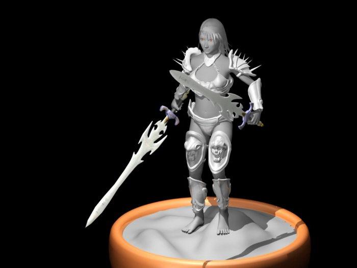 Female Warrior Art 3d rendering