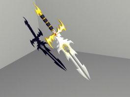 Phoenix Sword 3d model preview