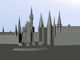 Cartoon Castle 3d model preview