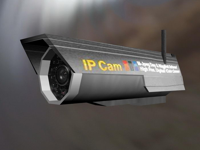 IP Camera 3d rendering