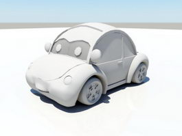 Cartoon Volkswagen Beetle 3d preview