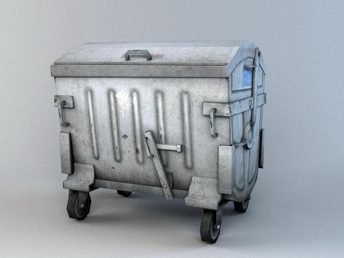 City Dumpster 3d rendering