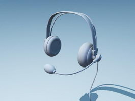 Phone Headset 3d preview