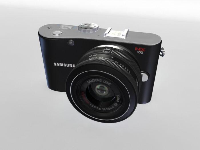 Samsung NX100 Digital Camera 3d rendering