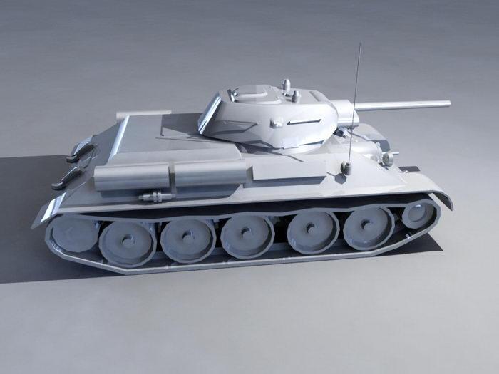T-34/76 Tank 3d rendering