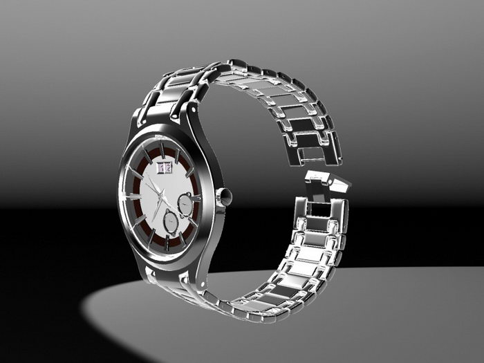 Man Watch 3d rendering