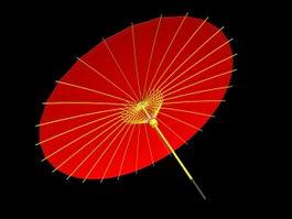 Oil-paper Umbrella 3d preview