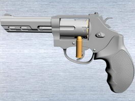 Small Revolver Gun 3d preview