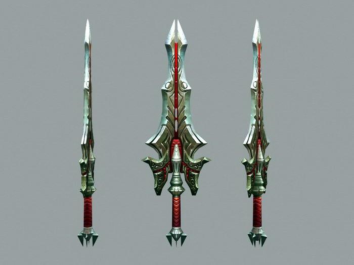 Wizard Sword 3d rendering